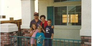 Here we are with Grandma Cathy at our new house in Corona where Mallory will live until she moves to Santa Barbara to attend UCSB.